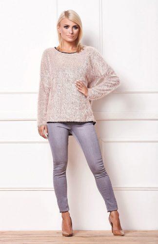 Sweter włochacz beżowy