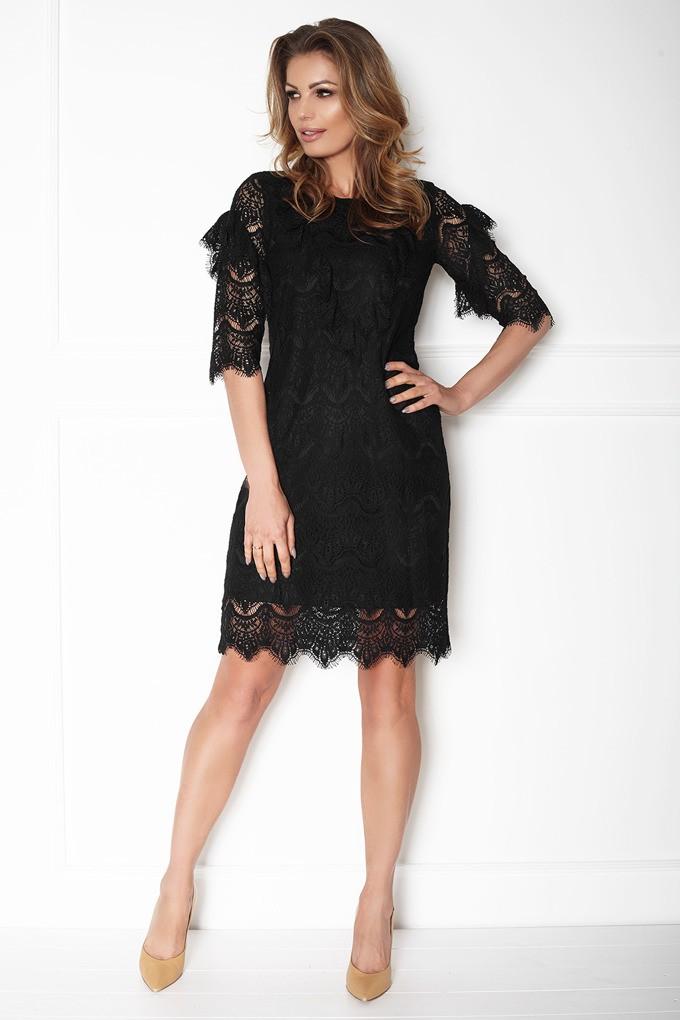 ccd1f42b8f Elegancka sukienka koronkowa przed kolano - Wysyłka od 5