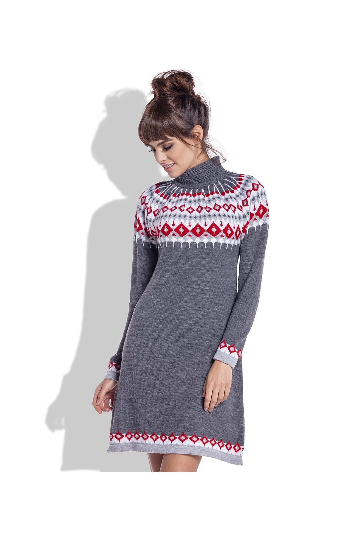 dd5c5dc2dd Żakardowa sukienka z norweskim wzorem - Wysyłka już od 5