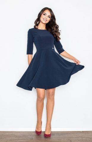 Sukienka taliowana rozkloszowana