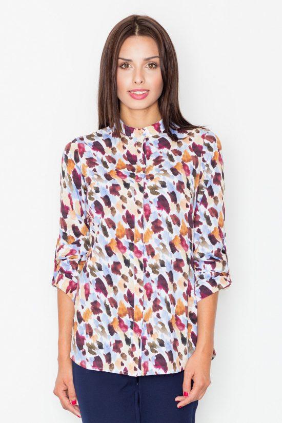 Koszula w kolorowe wzory