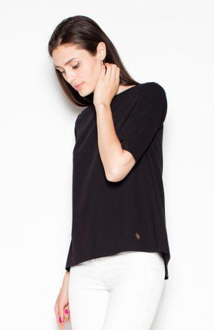 Gładka bluzka czarna