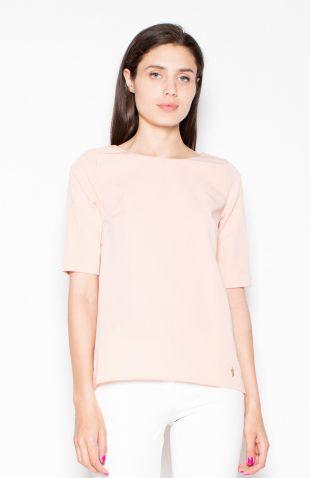 Gładka bluzka różowa