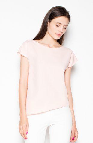 Gładka elegancka bluzka róż