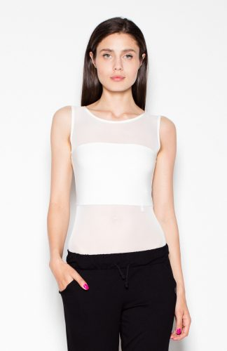 Body damskie top ecru