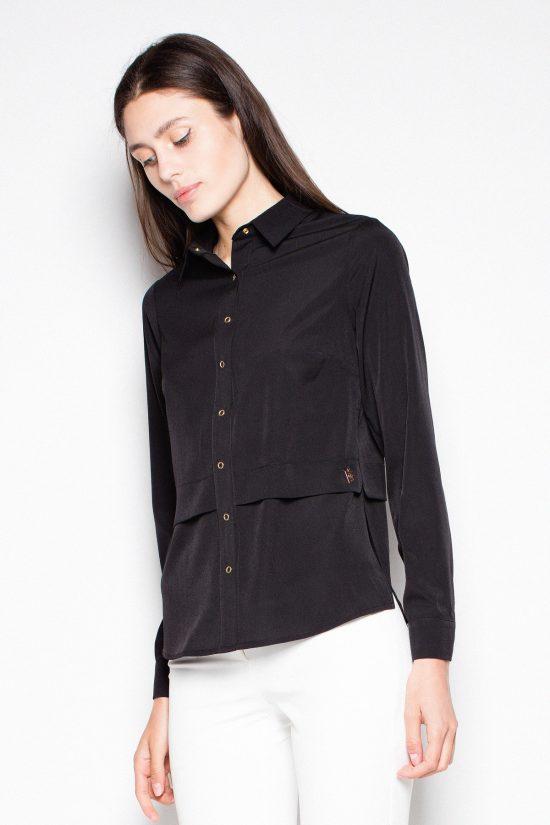 Koszula elegancka z długim rękawem czarna