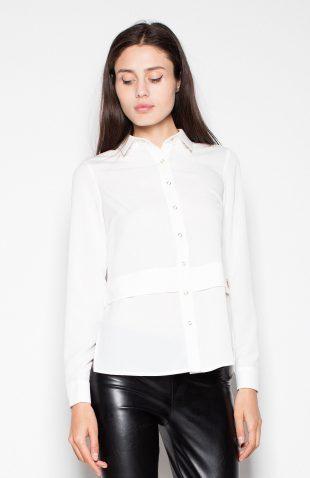 Koszula elegancka z długim rękawem ecru