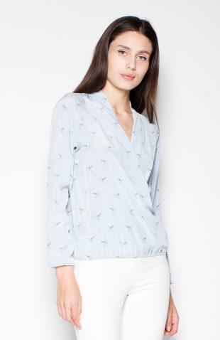 Koszula z motywem w ptaki błękit