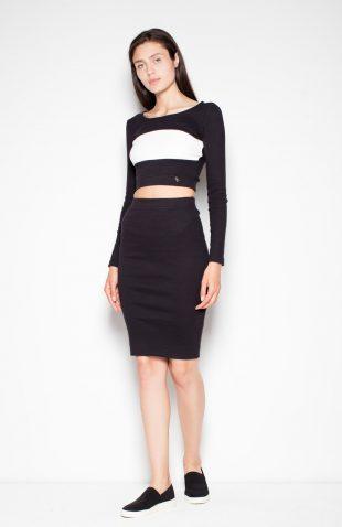 Komplet spódnica z bluzką czarny