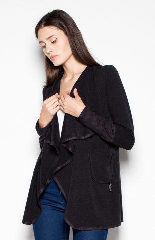 Sweter narzutka czarny