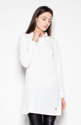 Długa elegancka koszula ecru