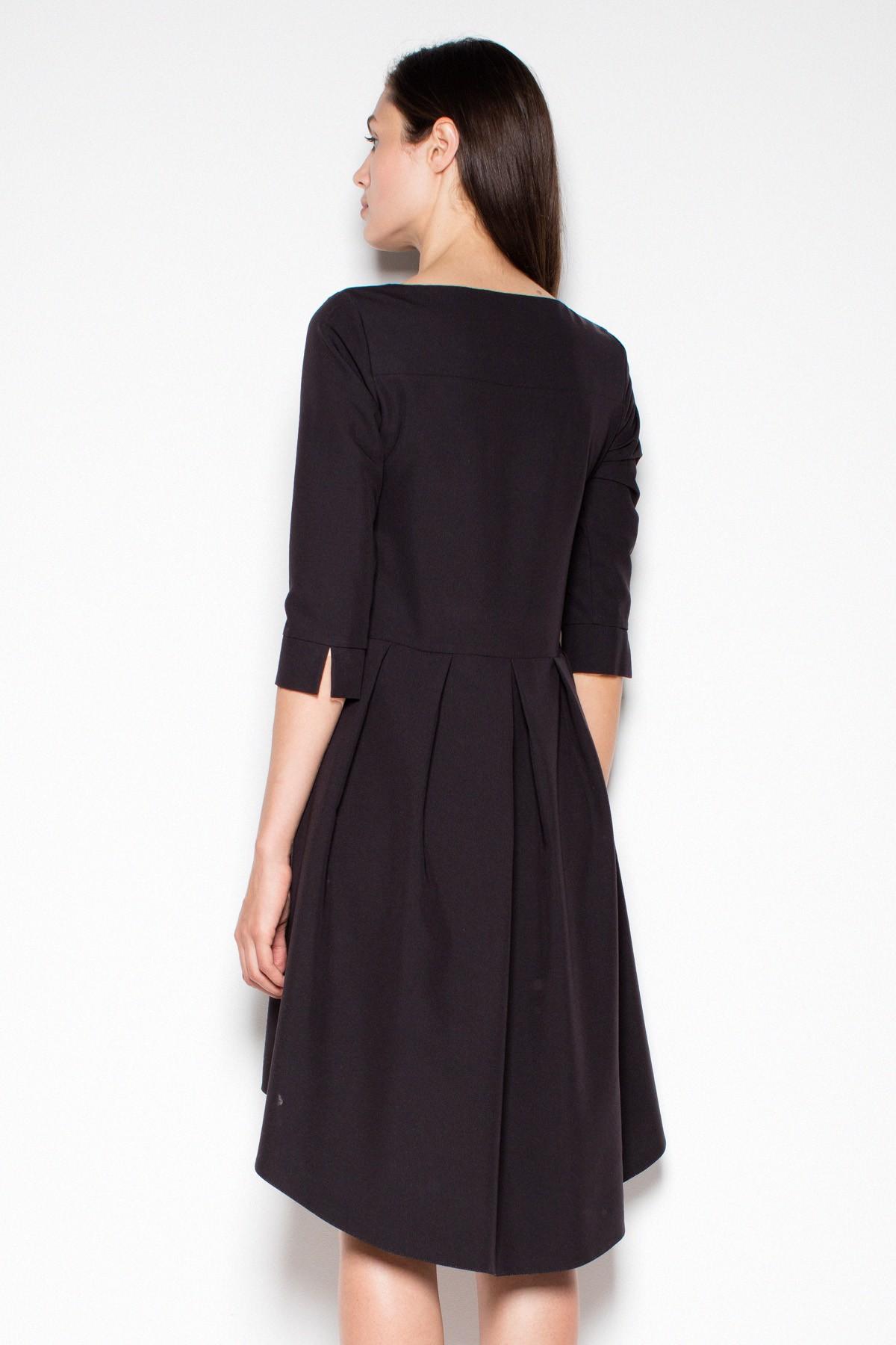 Sukienka asymetryczna z dłuższym tyłem czarna