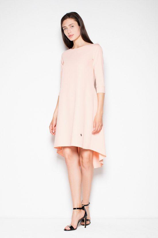 Sukienka asymetryczna plisowana