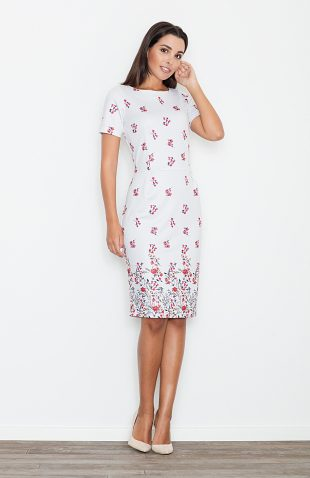 Ołówkowa sukienka biała
