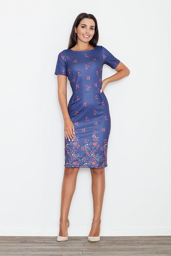 Sukienka ołówkowa niebieska
