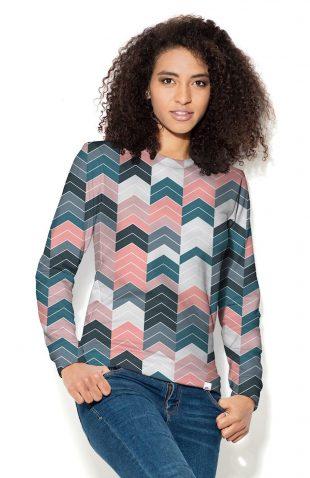 Bluza damska z nadrukiem geometryczne wzory