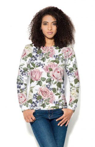 Bluza damska z nadrukiem kwiaty róży