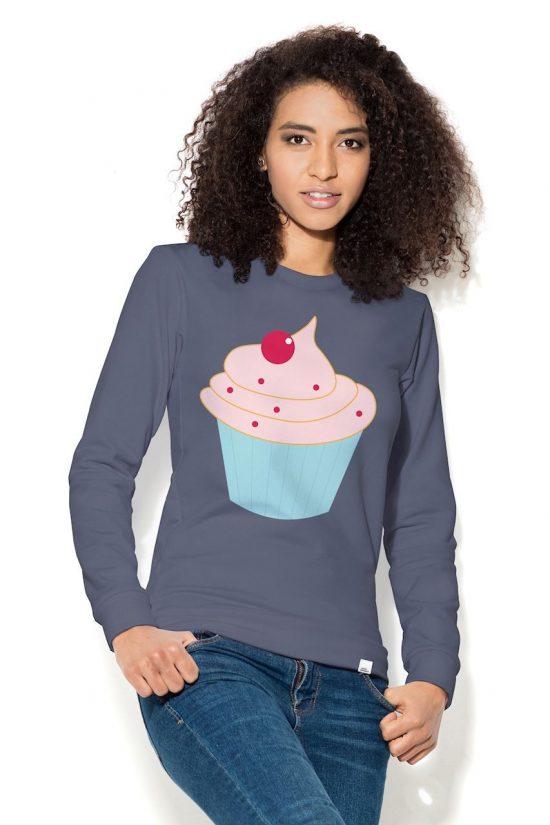 Bluza damska z nadrukiem ciastko