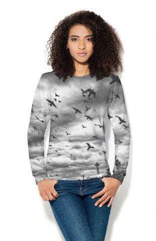 Bluza damska z nadrukiem, termoaktywna