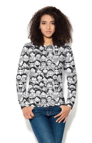 Bluza damska z nadrukiem w rysunkowe postacie