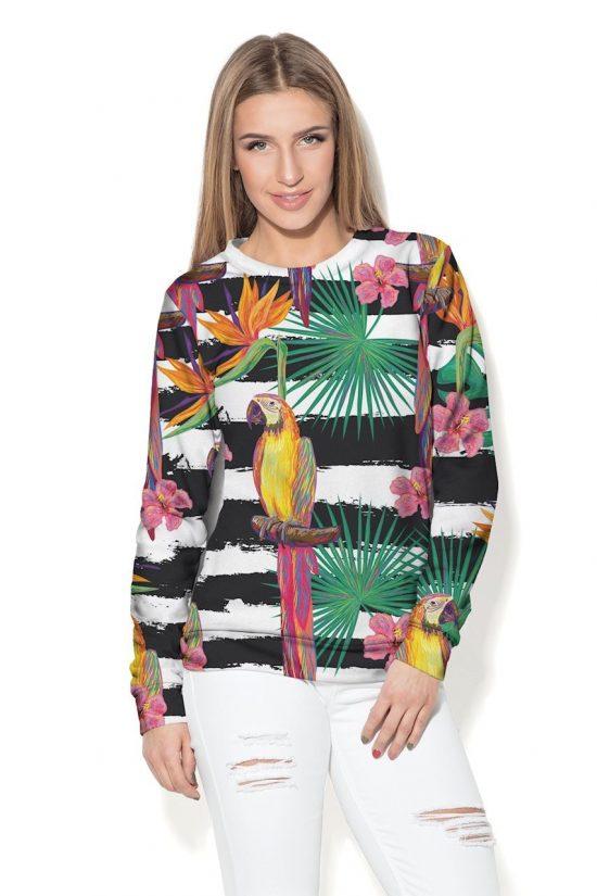 Damska bluza z dzianiny z kolorowym nadrukiem