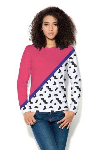 Damska bluza z dwukolorowym nadrukiem