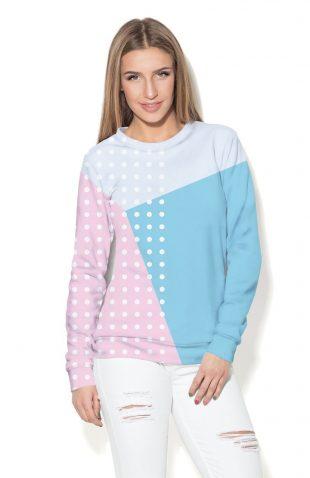 Damska bluza z nadrukiem, asymetryczny wzór