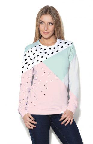 Damska bluza z asymetrycznym nadrukiem