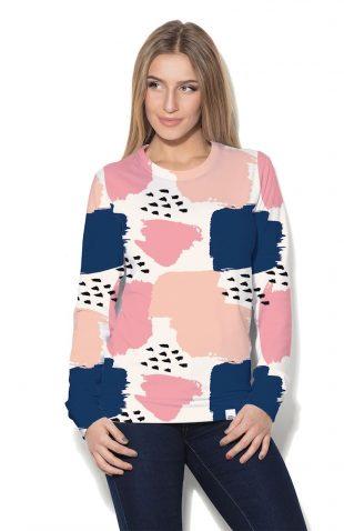 Damska bluza z kolorowym nadrukiem