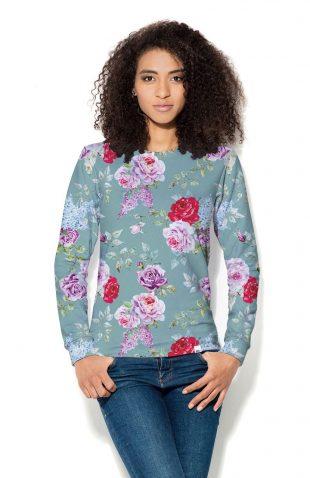 Damska bluza z nadrukiem w kwiaty