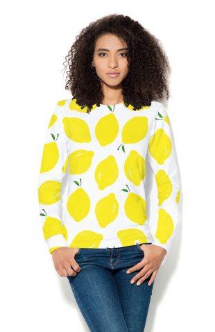Damska bluza z nadrukiem w cytryny