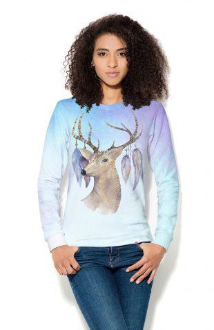 Damska bluza z nadrukiem Jeleń