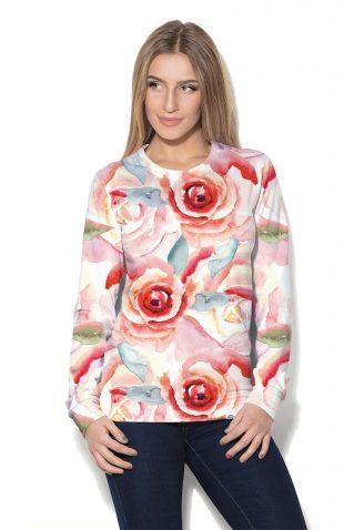 Damska bluza w kwiaty