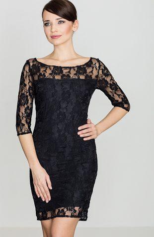 Sukienka z koronki czarna