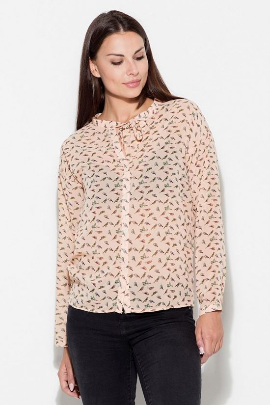 Koszula animal print różowa