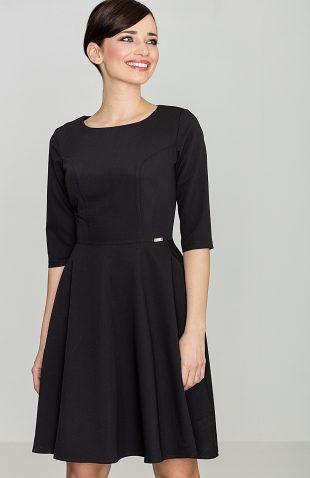Klasyczna sukienka przed kolano czarna