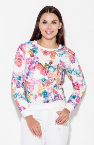 Bluza bez kaptura z nadrukiem w kwiaty