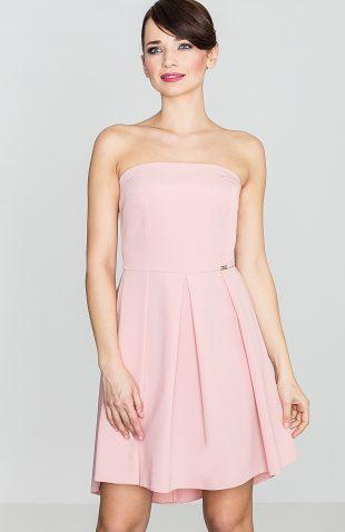 Sukienka gorsetowa odcinana w talii różowa