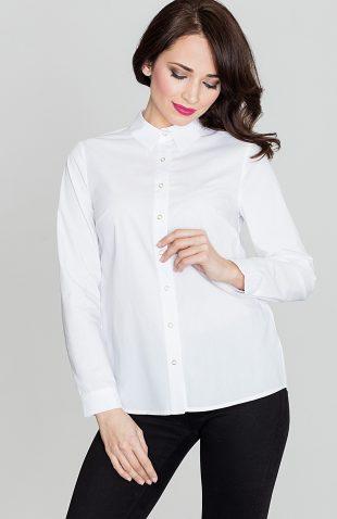 Koszula zapinana na zatrzaski biała
