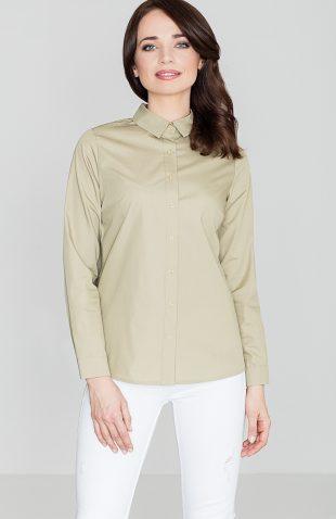 Koszula zapinana na zatrzaski oliwkowa