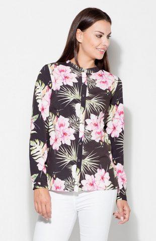 Koszula we wzory kwiaty