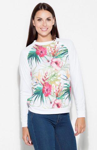 Bluza z nadrukiem w kwiaty