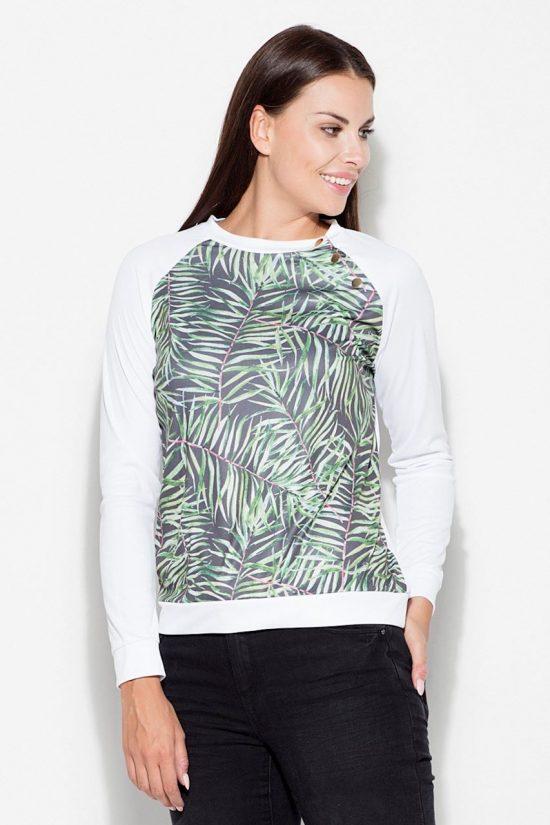 Bluza damska z nadrukiem listki