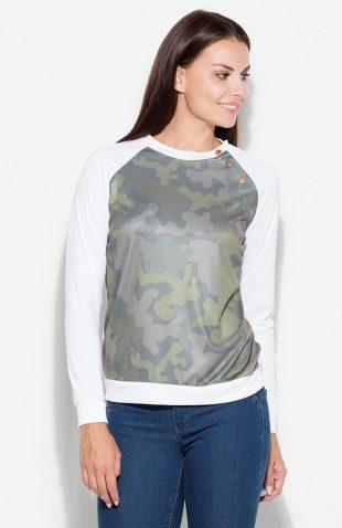 Bluza damska z militarnym nadrukiem