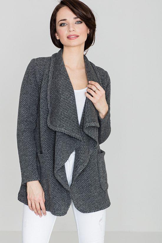Sweter narzutka z kieszeniami
