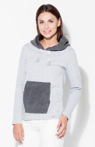 Bluza kangurka z kapturem damska