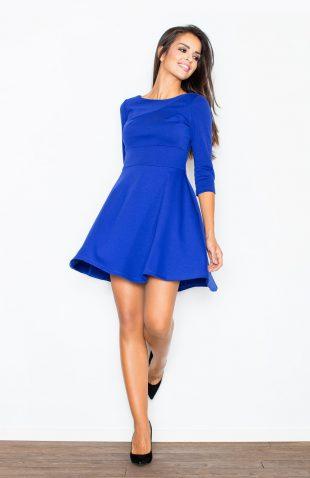 Sukienka taliowana szafirowa