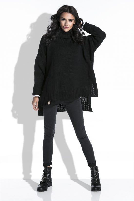 Luźny sweter oversize z dłuższym tyłem