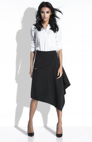 Elegancka spódnica asymetryczna midi do pracy