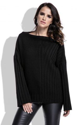 Ciepły sweter z szerokimi rękawami